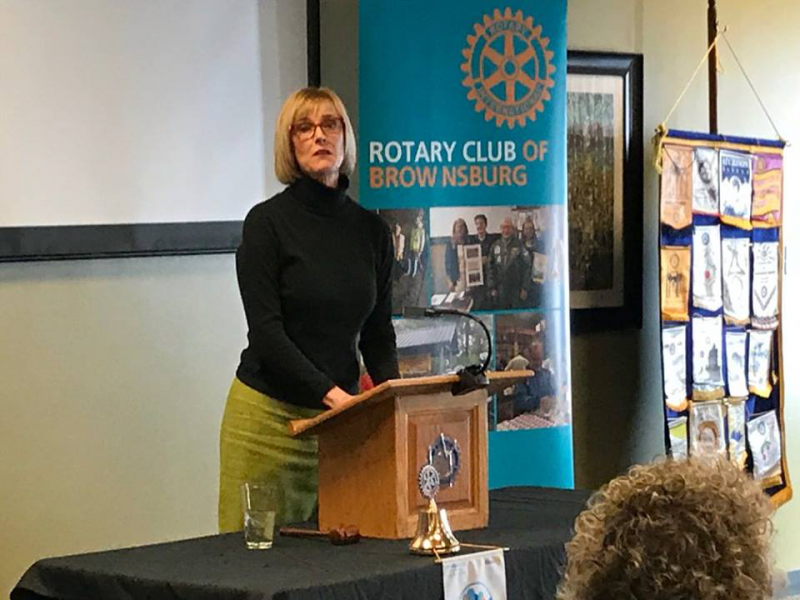 Indiana State Lt. Governor Suzanne Crouch speaking December 14, 2017
