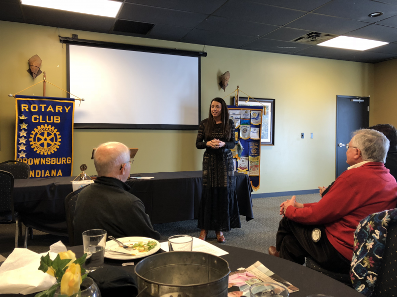 Blair Milo, Secretary of Career Connection & Talent for the State of Indiana speaking March 22, 2018