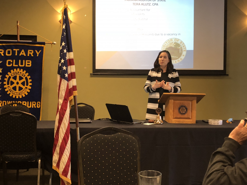 Tera Klutz, Indiana State Auditor speaking March 29, 2018