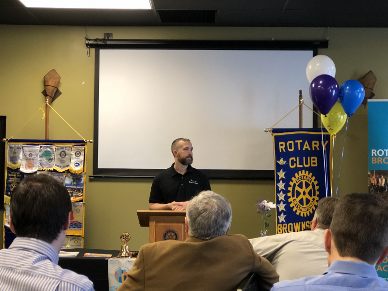 Aaron Starr, Brownsburg Town Employee of the Year speaking March 8, 2018