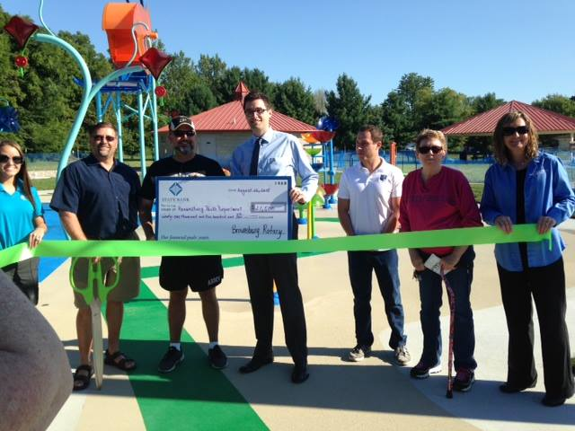 Ribbon Cutting at Williams Park on project paid for by Brownsburg Rotary